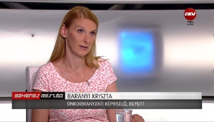 Baranyi Krisztina. Fotó kettőspont ATV per Atv.hu